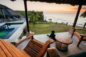 Ocean View from a Villa Terrace